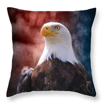 Eagle I Throw Pillow by Jai Johnson