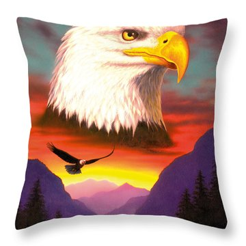 Eagle Throw Pillow by MGL Studio - Chris Hiett