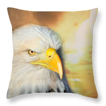 Eagle Sun Throw Pillow by Marty Koch