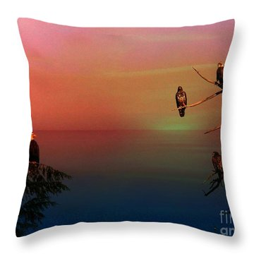 Eagle's View Throw Pillow