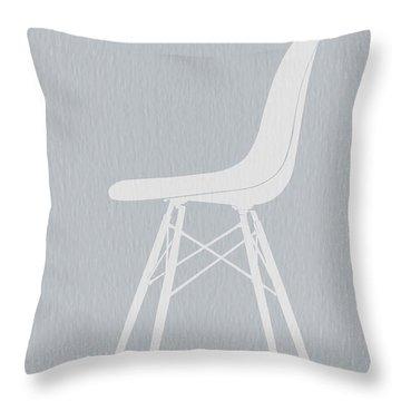 Eames Fiberglass Chair Throw Pillow by Naxart Studio