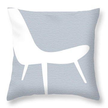 Eames White Chair Throw Pillow by Naxart Studio