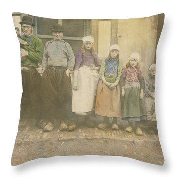 Early 20th-century Portrait Of A Dutch Throw Pillow by George King