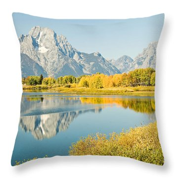 Early Autumn At Oxbow Bend Throw Pillow