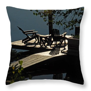 Early Morning At The Lake Throw Pillow by Cindy Manero