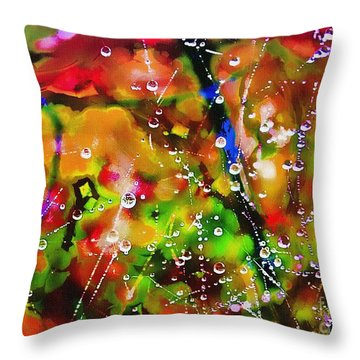 Early Morning Dew Throw Pillow by Judi Bagwell