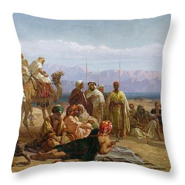 Early Morning In The Wilderness Of Shur Throw Pillow