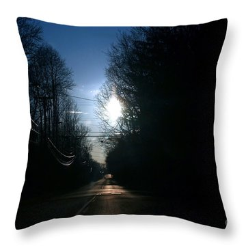 Early Morning Rural Road Throw Pillow by Susan Stevenson