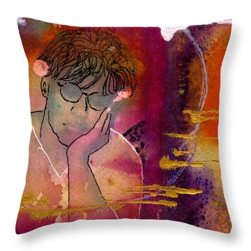 Early Morning Songwriter Throw Pillow by Angela L Walker