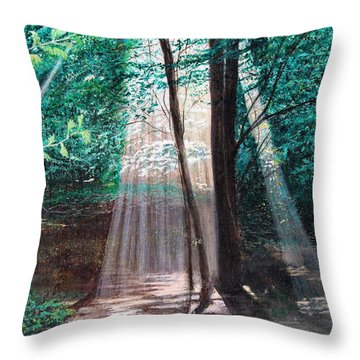 Early Morning Sunrise Throw Pillow by Stuart B Yaeger