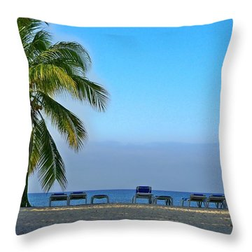 Throw Pillow featuring the photograph Early Morning Trinidad Cuba by Lynn Bolt