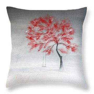 Early Snow Throw Pillow by Gray  Artus