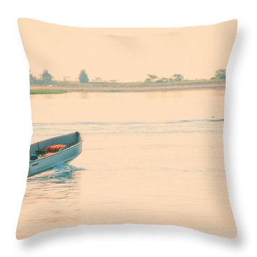 Early Start Throw Pillow by Karol Livote