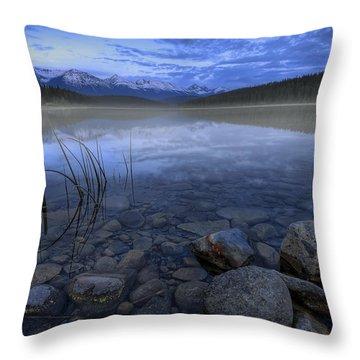 Early Summer Morning On Patricia Lake Throw Pillow by Dan Jurak