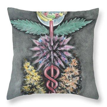 Earth Angel Throw Pillow by Carla Carson