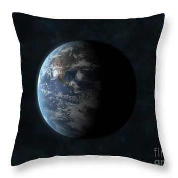 Earth Throw Pillow by Carbon Lotus