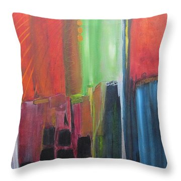 Earth Layers Throw Pillow