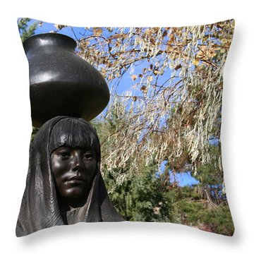 Throw Pillow featuring the photograph Earth Mother by Laurel Talabere