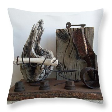 Earth Radio Throw Pillow by Snake Jagger
