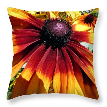 Earth Tone Throw Pillow by Art Dingo