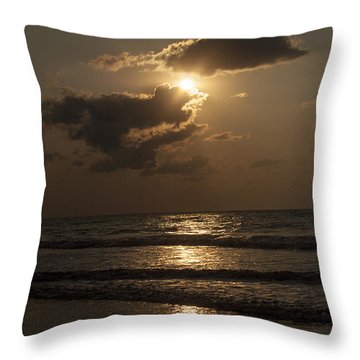 East Coast Sunrise Throw Pillow by Darleen Stry