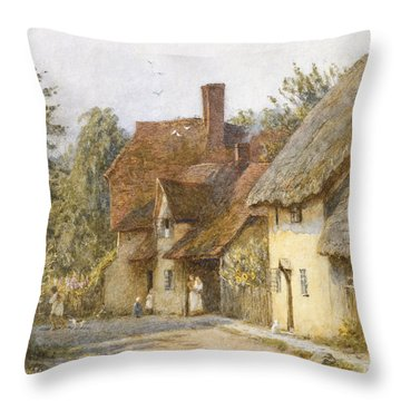 East Hagbourne Berkshire Throw Pillow by Helen Allingham