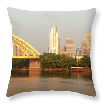 East Side Pano Throw Pillow by Keith Allen
