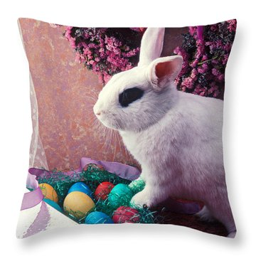 Easter Bunny Throw Pillow by Garry Gay