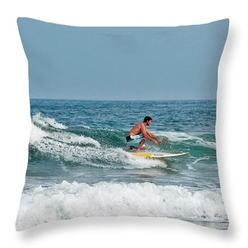 Easy Surfing  Throw Pillow by Ann Murphy