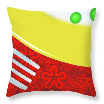 Eat Your Peas Throw Pillow by Richard Rizzo