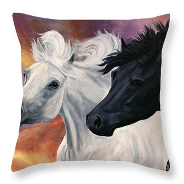 Ebony And Ivory Throw Pillow by Sheri Gordon