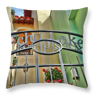 Echo Lake Gate Throw Pillow