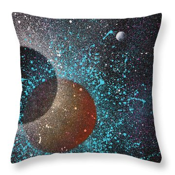 Eclipse Throw Pillow by Reina Cottier
