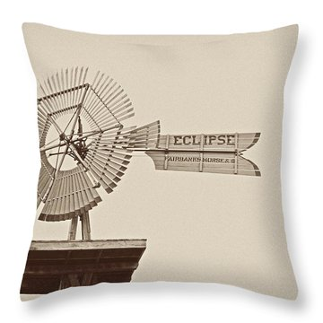 Eclipse Windmill 3578 Throw Pillow by Michael Peychich
