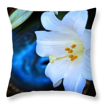 Eclipse With A Lily Throw Pillow by Steven Sparks