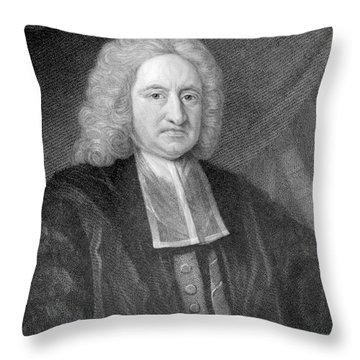Edmond Halley, English Polymath Throw Pillow by Photo Researchers