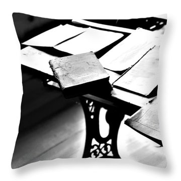 Education Station Throw Pillow by Empty Wall