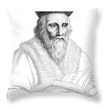 Edward Kelley, English Alchemist Throw Pillow by Science Source