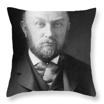 Edward Pickering, American Astronomer & Throw Pillow by Science Source