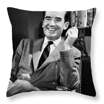 Edward R. Murrow Throw Pillow by Granger