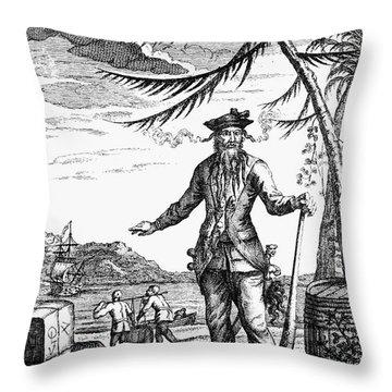 Edward Teach (?-1718) Throw Pillow by Granger