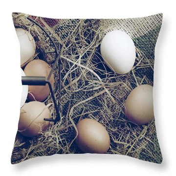 Eggs Throw Pillow by Joana Kruse
