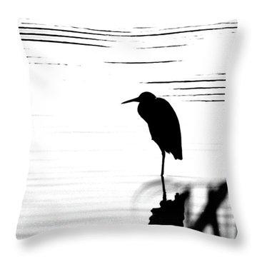 Throw Pillow featuring the photograph Egret  by Lizi Beard-Ward