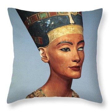 Egypt: Nefertiti Throw Pillow by Granger