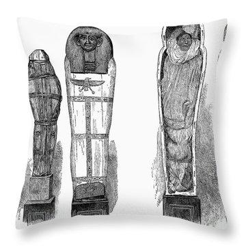 Egypt: Royal Mummies, 1882 Throw Pillow by Granger