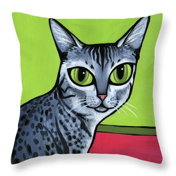 Egyptian Mau Throw Pillow