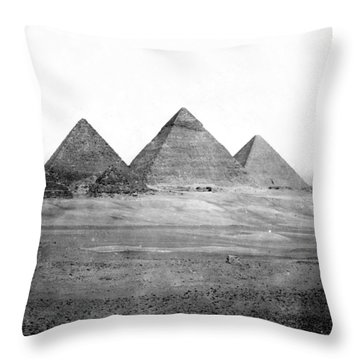 Egyptian Pyramids - C 1901 Throw Pillow by International  Images
