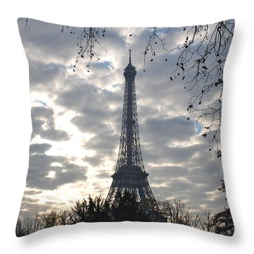 Throw Pillow featuring the photograph Eiffel In The Morning by Eric Tressler