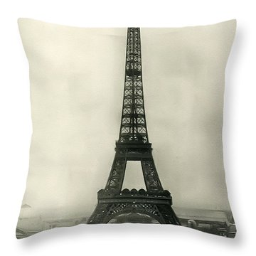 Eiffel Tower 1890 Throw Pillow by Bill Cannon