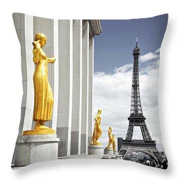 Eiffel Tower From Trocadero Throw Pillow by Elena Elisseeva